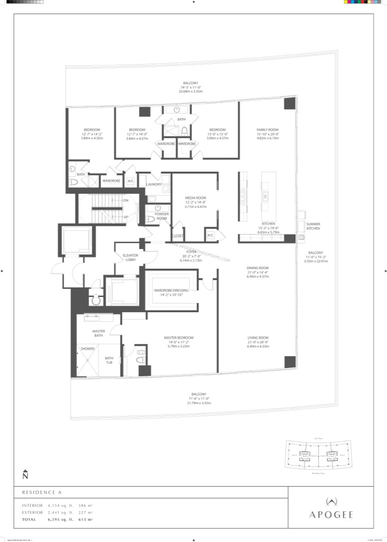 Floor plan image Residence A - 4/3/1  - 4154 sqft image