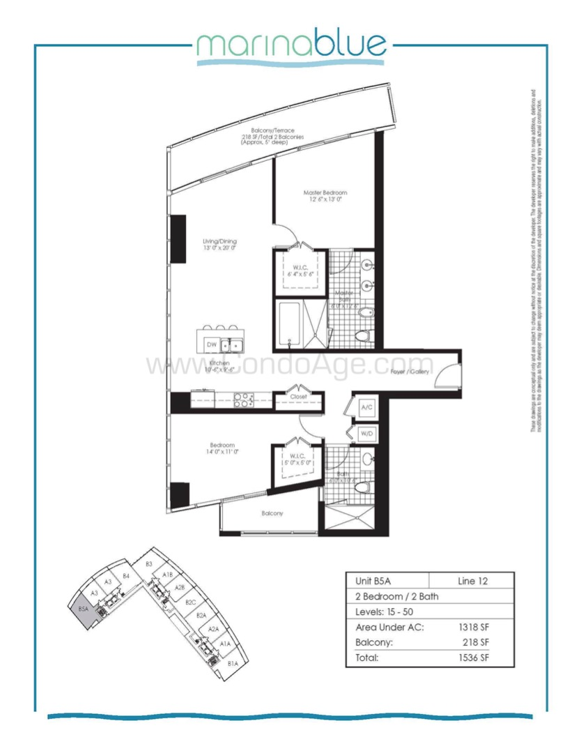 Floor plan image B5A - 2/2  - 1317 sqft image
