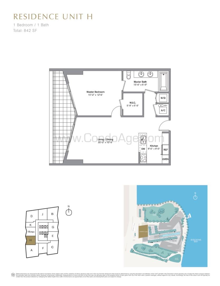 Floor plan image H - 1/1  - 842 sqft image