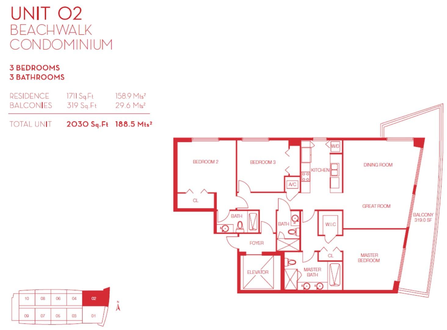 Floor plan image 02 - 3/3  - 1711 sqft image