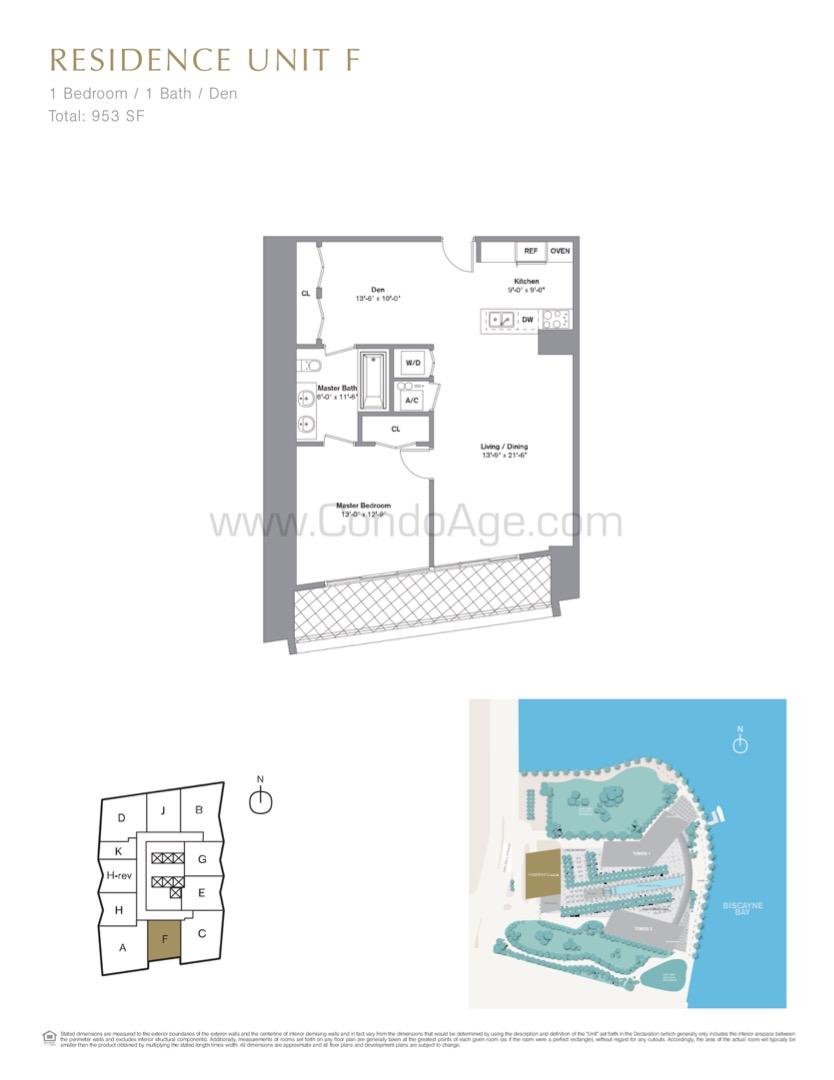 Floor plan image F - 1/1  - 953 sqft image