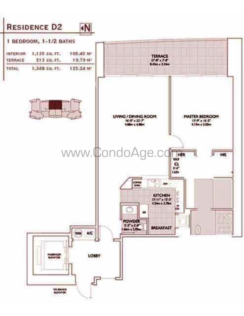 Floor plan image D2 - 1/1/1  - 1135 sqft image