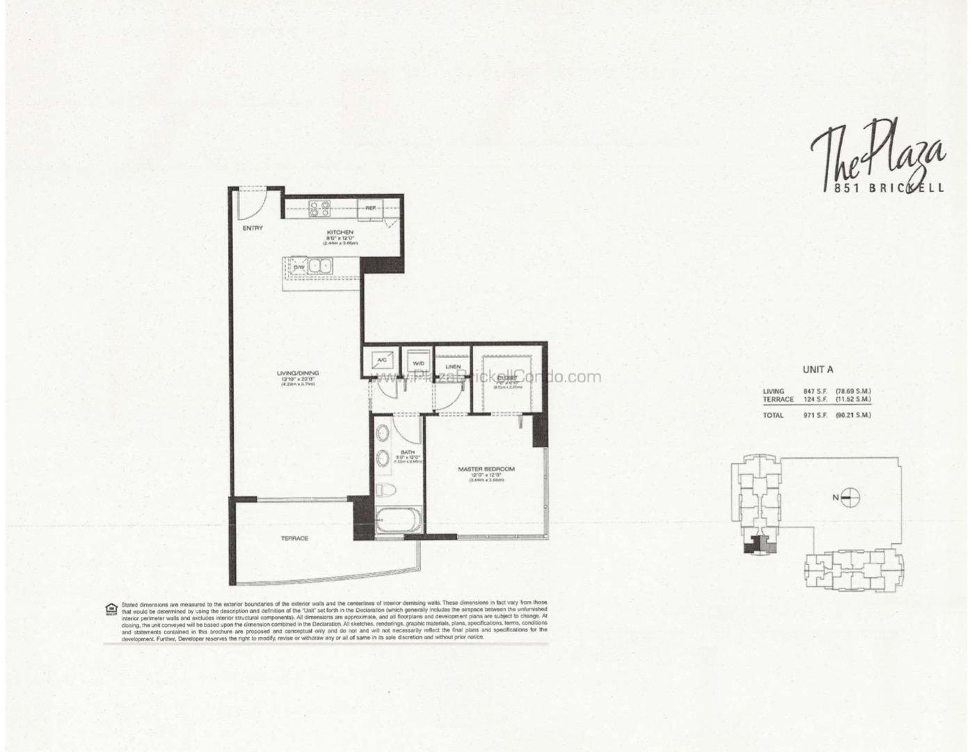 Floor plan image A - 1/1  - 847 sqft image