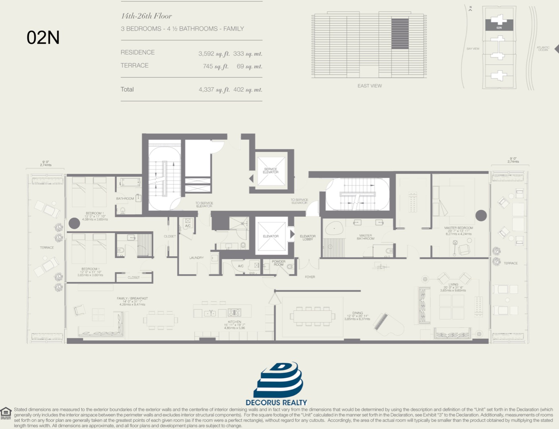 Floor plan image 02N - 3/4.5  - 3592 sqft image