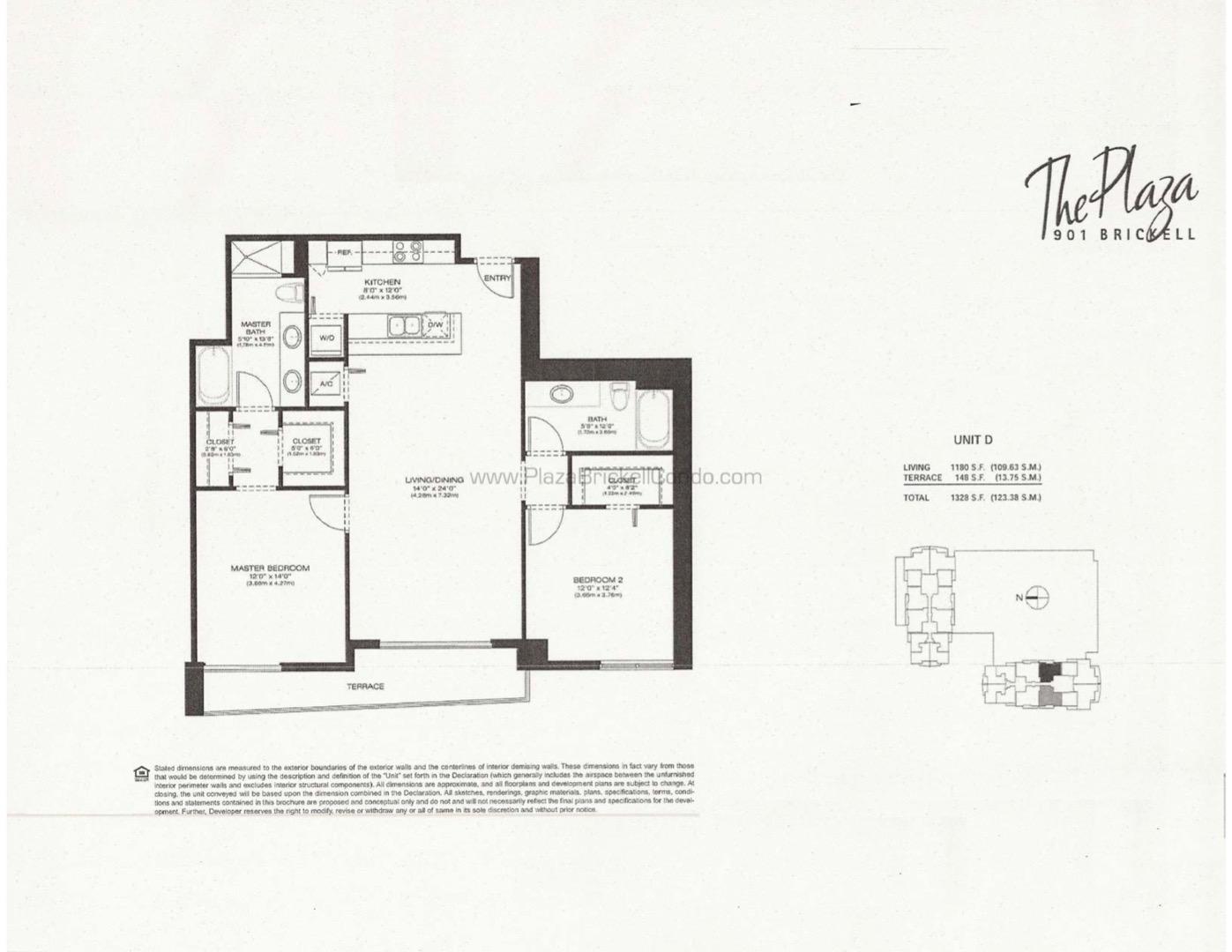 Floor plan image D - 2/2  - 1180 sqft image