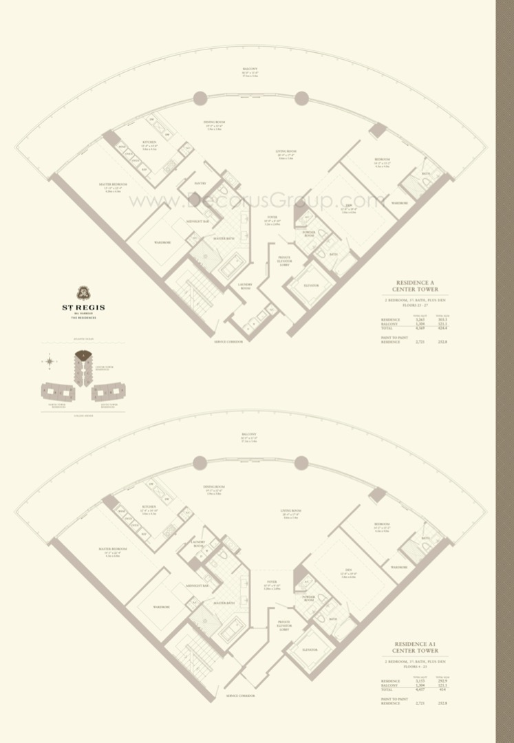 Floor plan image A - 2/3.5 + Den  - 4569 sqft image