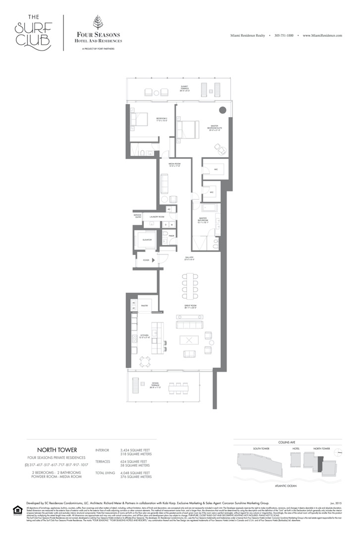 Floor plan image D - 2/2/POWDER ROOM/MEDIA ROOM  - 4048 sqft image