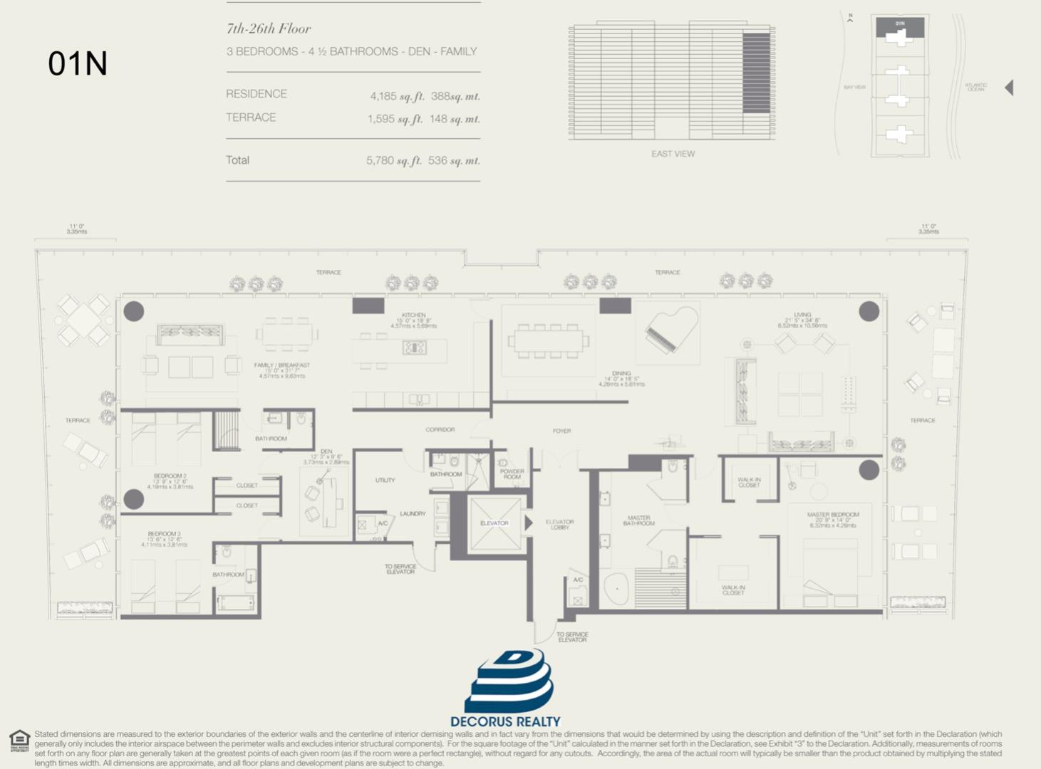 Floor plan image 01N - 3/4.5  - 4185 sqft image