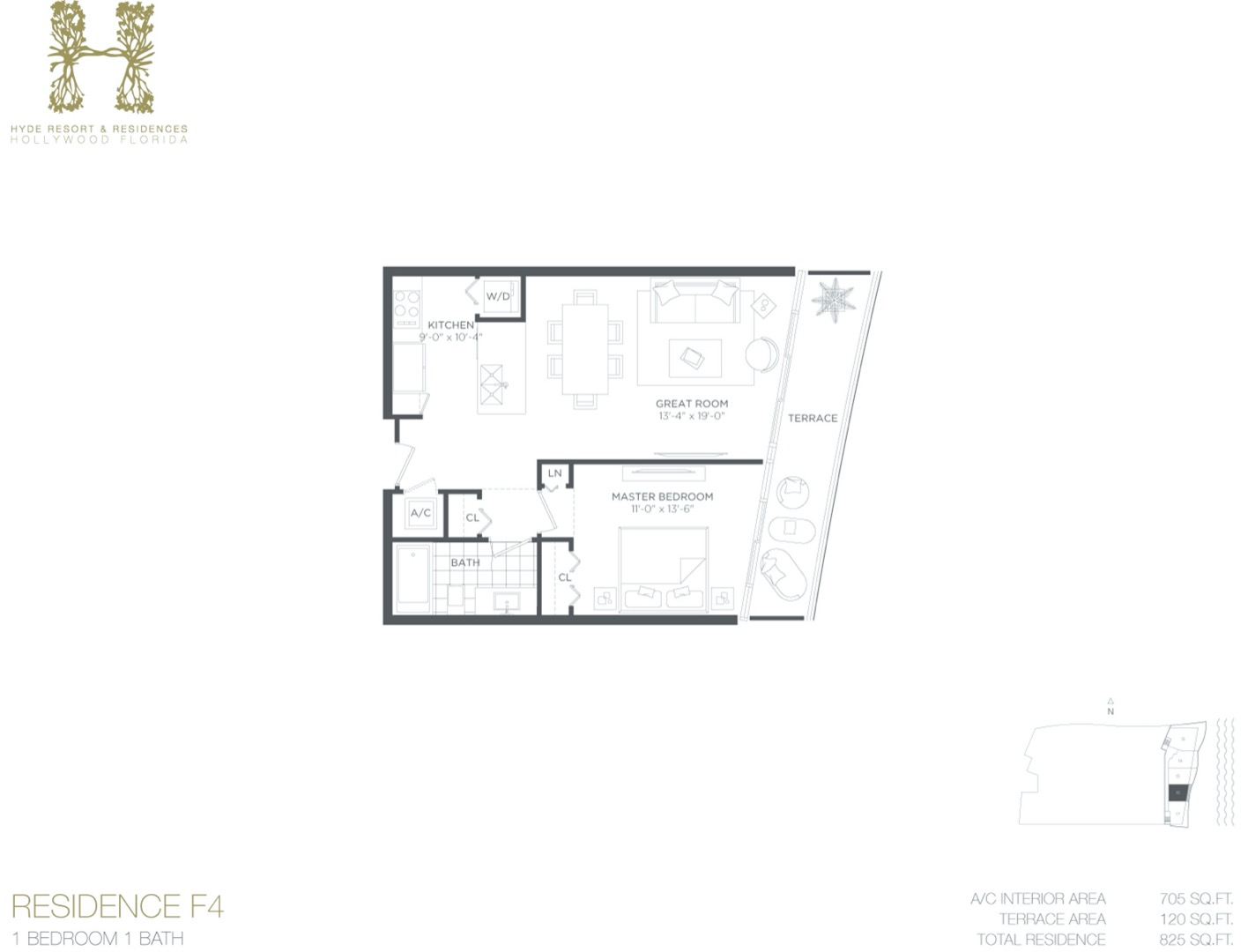 Floor plan image F4 - 1/1  - 705 sqft image