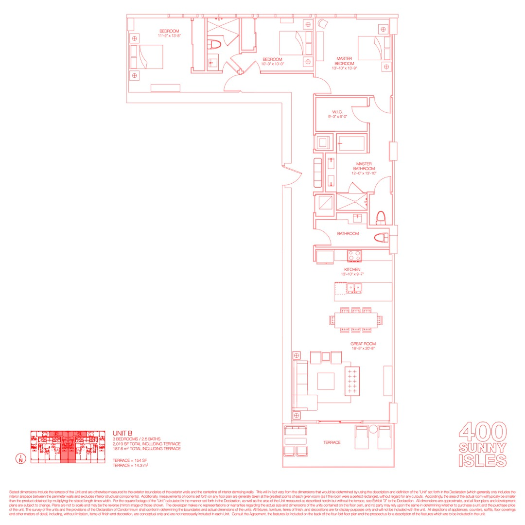 Floor plan image 19 - 3 Beds / 2.5 Baths  - 2019 sqft image
