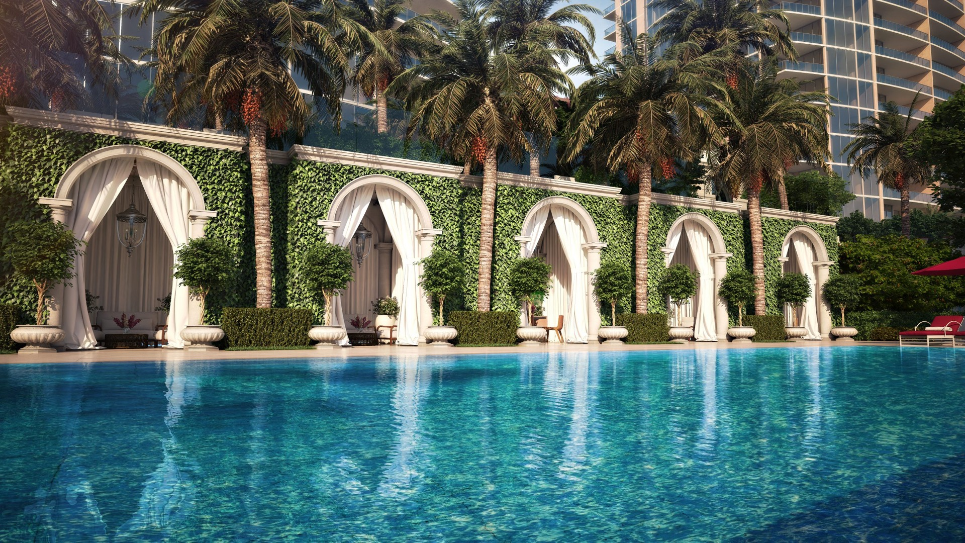 Private poolside cabanas image