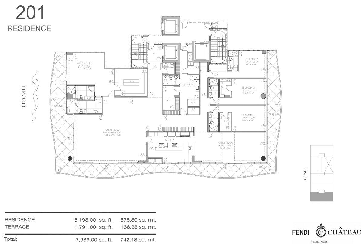 Floor plan image 201 - 4/5.5  - 7989 sqft image