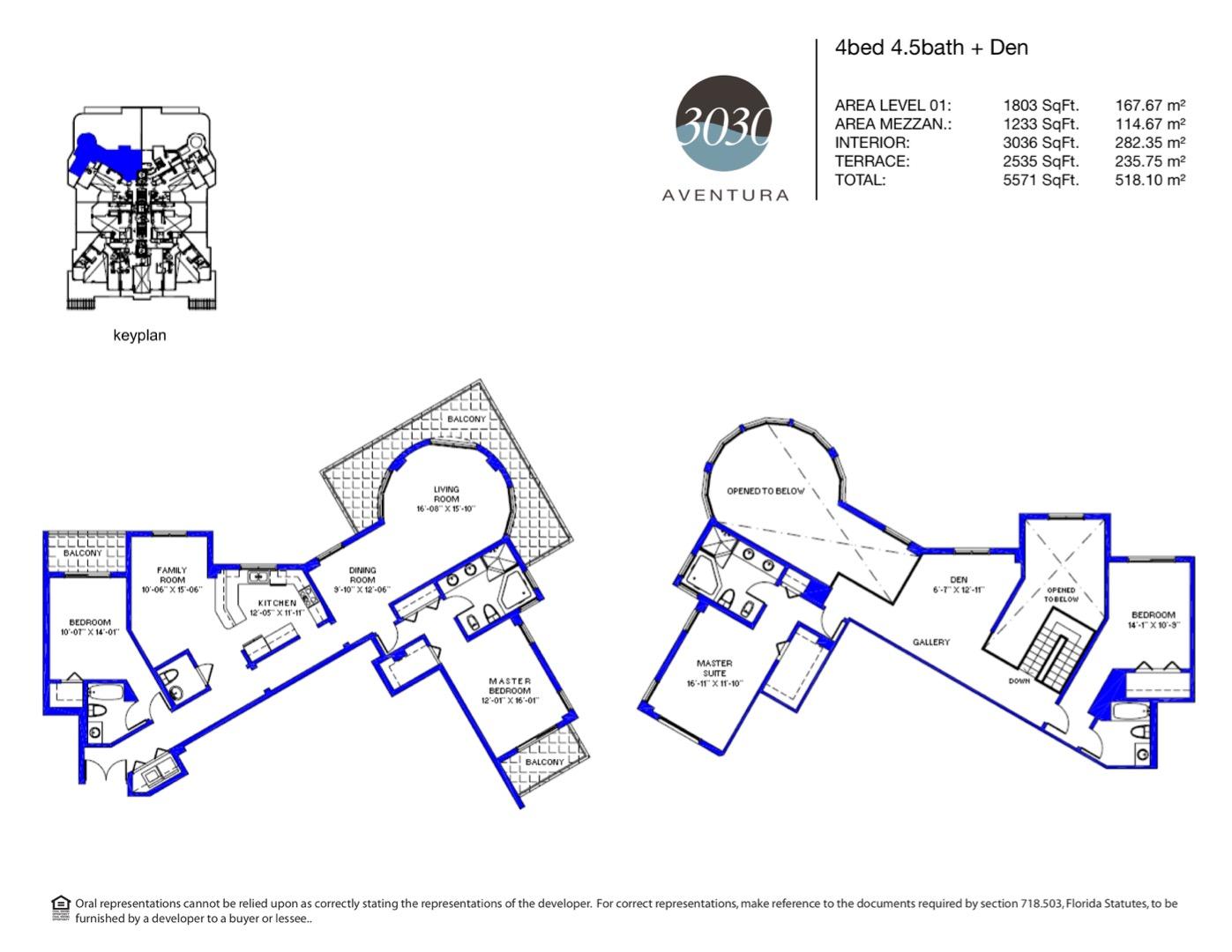 Floor plan image 13 - 4 + Den / 4.5  - 5571 sqft image
