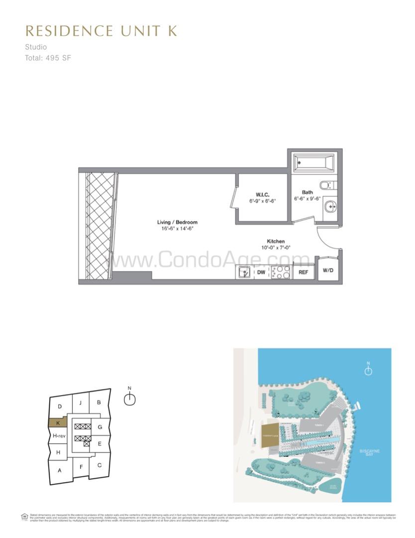 Floor plan image K - Studio  - 495 sqft image