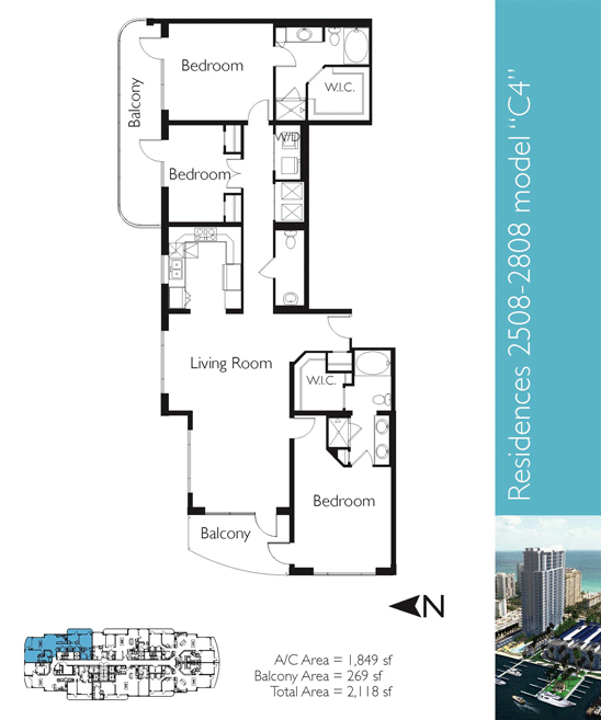 Floor plan image C4a - 3/2/1  - 1849 sqft image