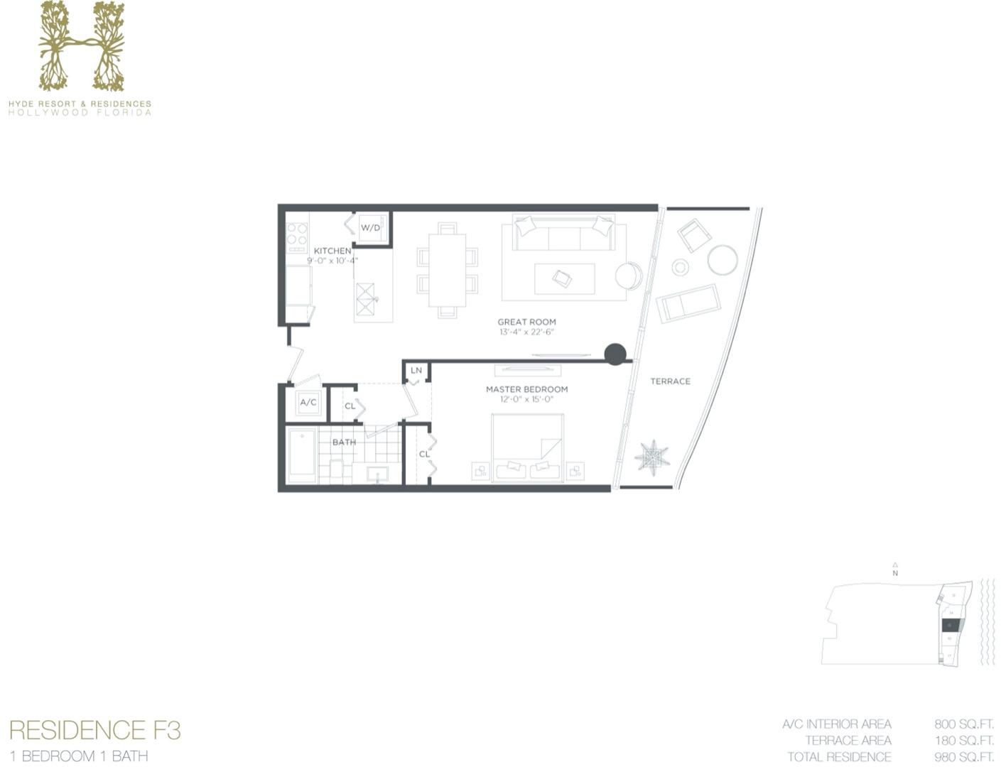 Floor plan image F3 - 1/1  - 800 sqft image
