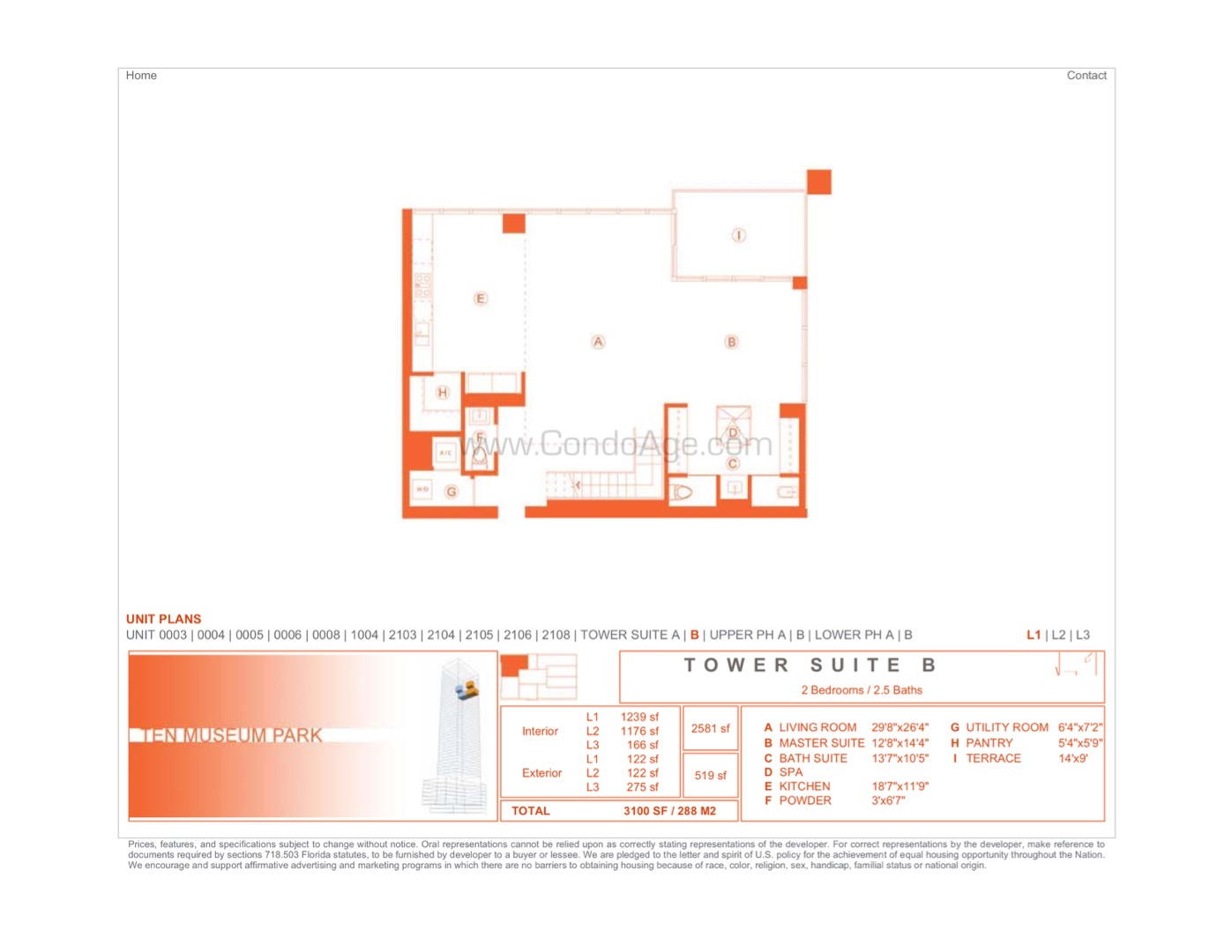 Floor plan image TSB - 2/2/1  - 2581 sqft image