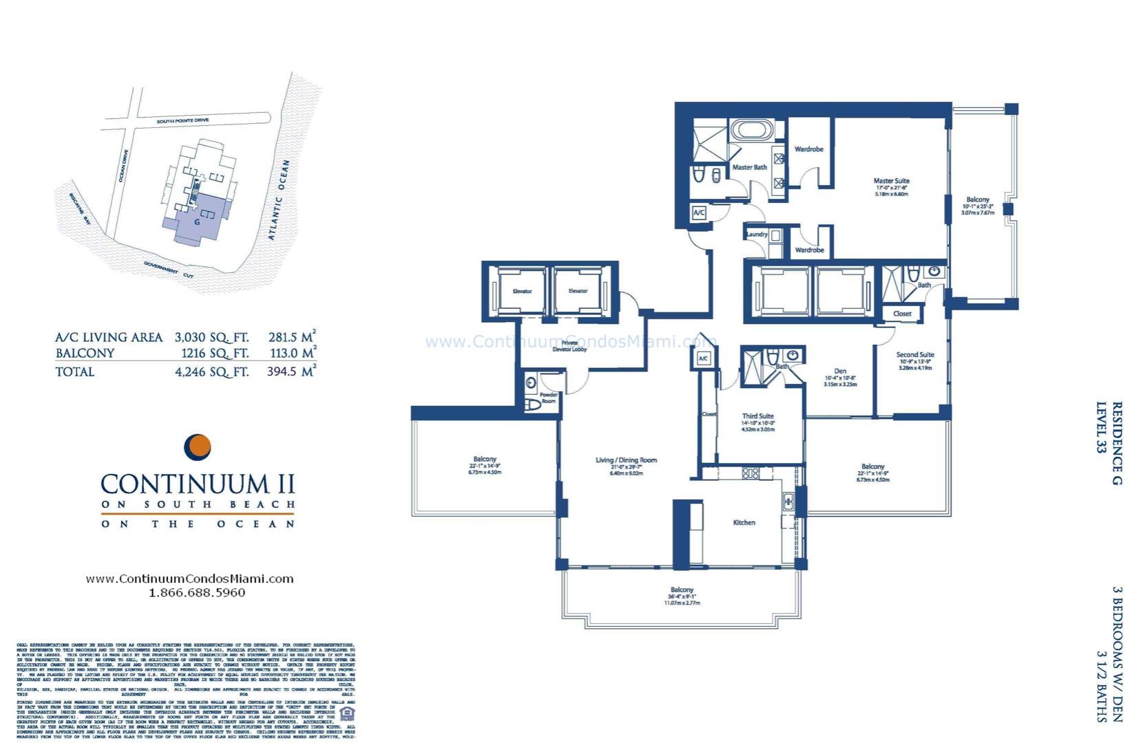 Floor plan image G - 4/4/1  - 3030 sqft image