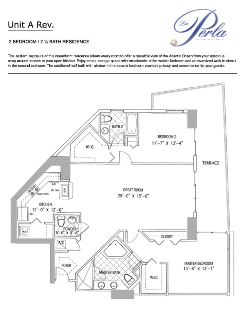 Floor plan image A-rev - 2/2.5  - 1602 sqft image