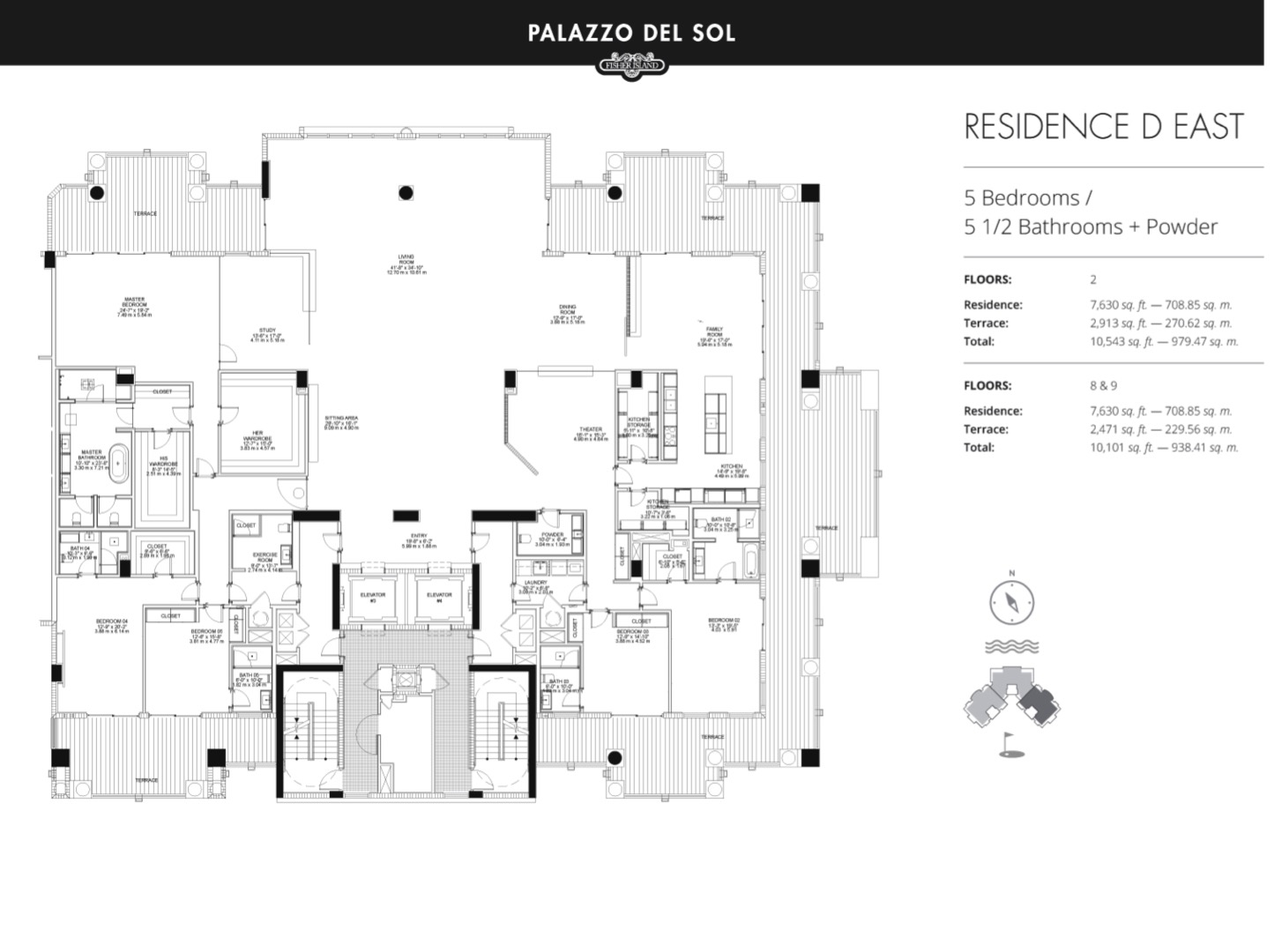Floor plan image D East 2-8 - 5/5.5  - 7630 sqft image