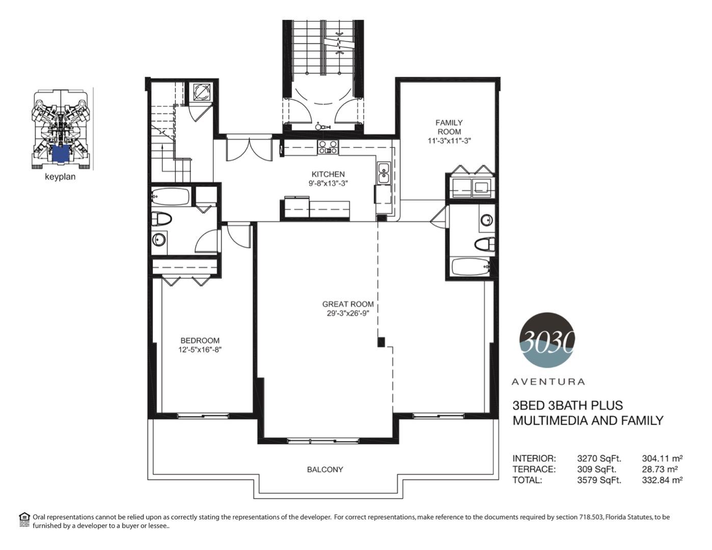 Floor plan image 10 - 3 + Media + Fam / 3  - 3579 sqft image