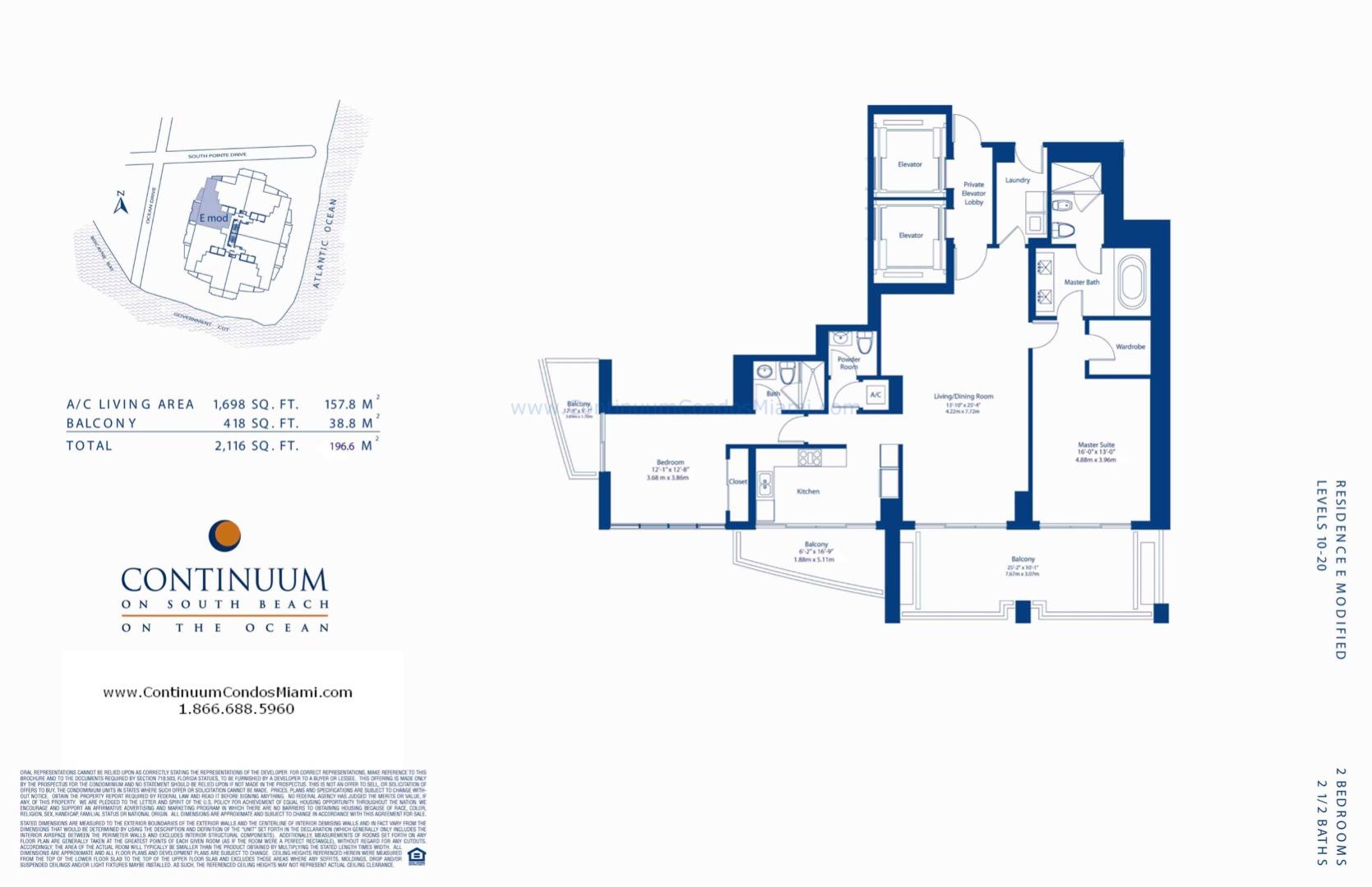 Floor plan image E-modified - 2/2/1  - 1698 sqft image