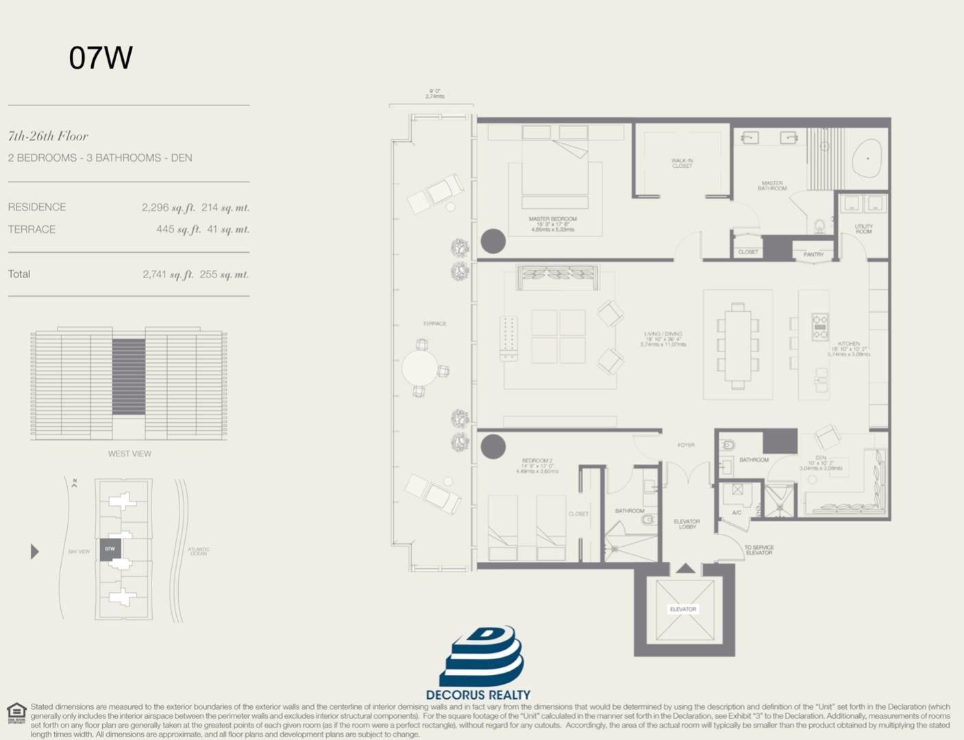 Floor plan image 07W - 2/3  - 2296 sqft image