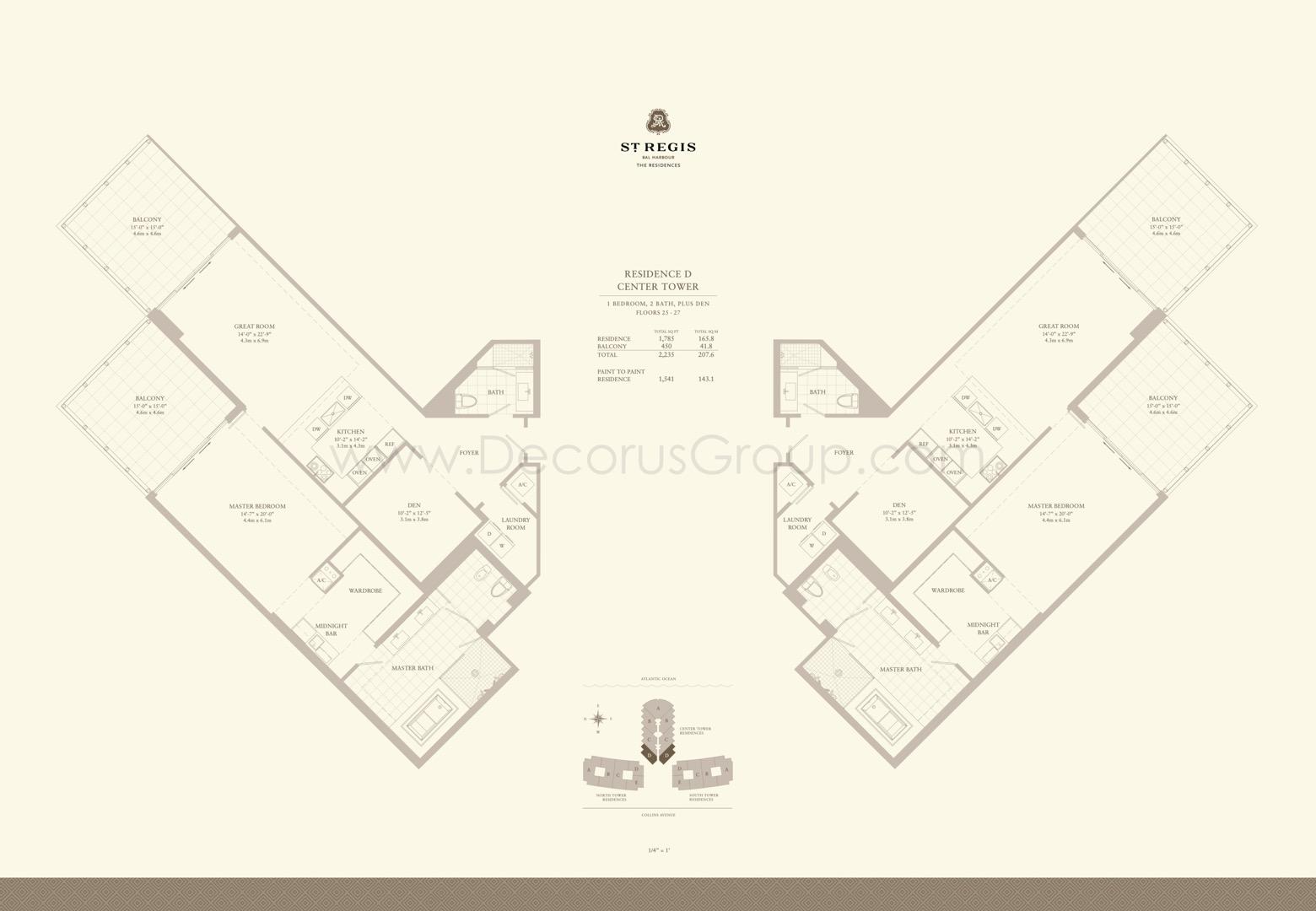 Floor plan image D - 1/2 + Den  - 2235 sqft image