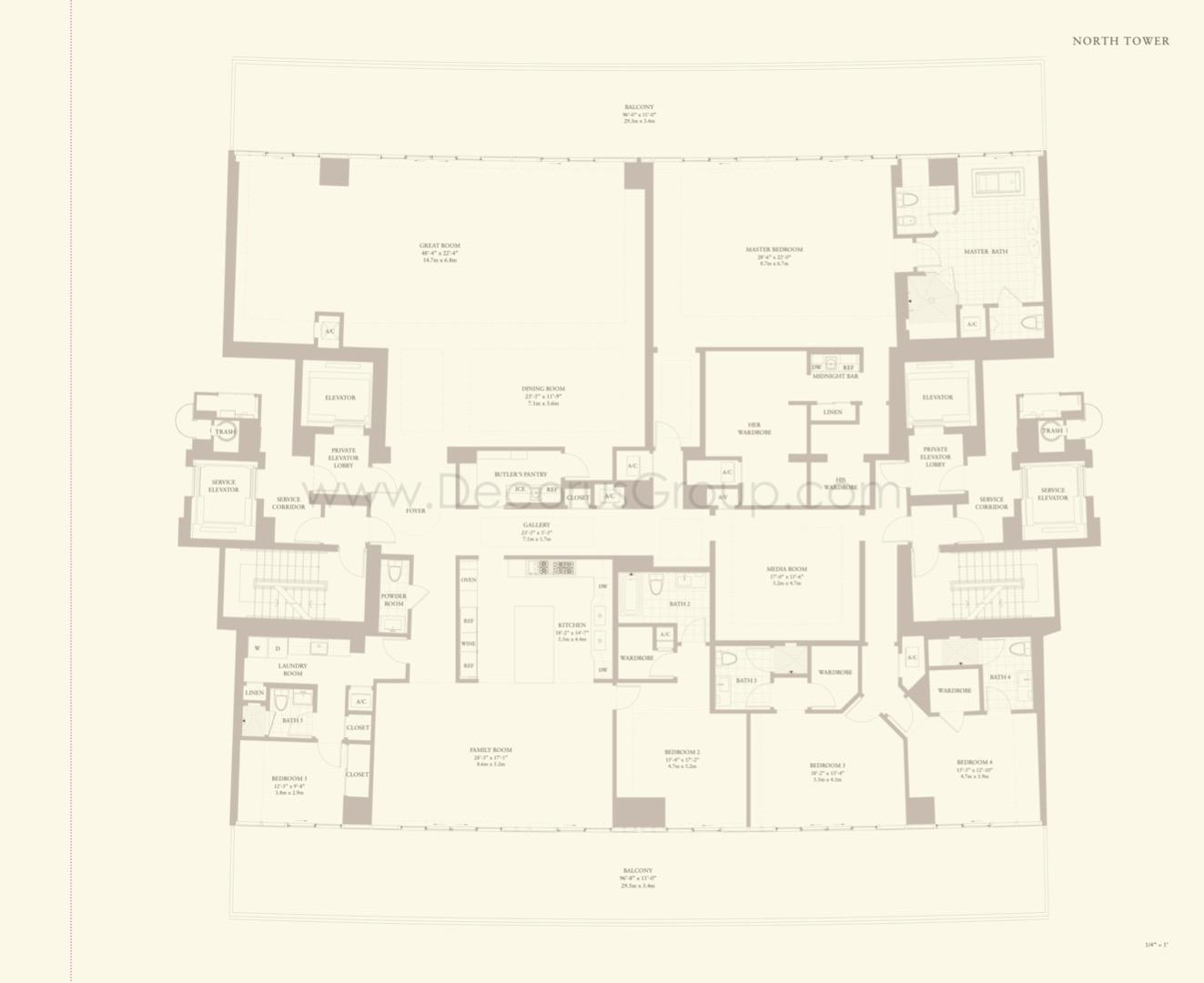 Floor plan image Excelsior - 5/5.5  - 6305 sqft image
