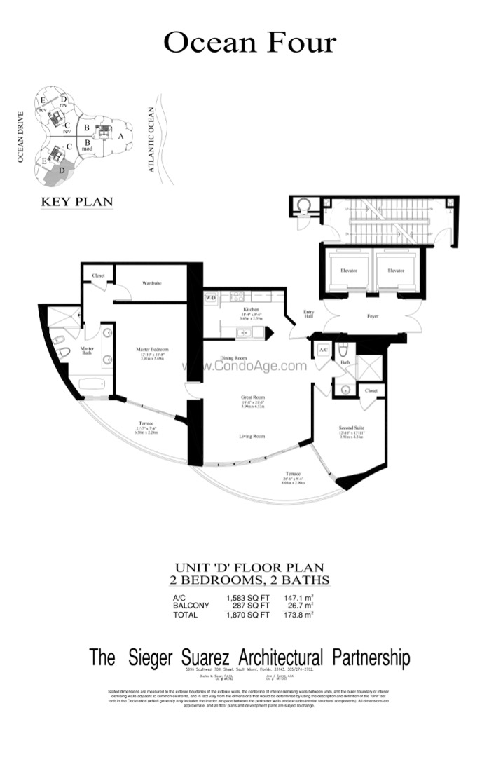 Floor plan image D - 2/2/1  - 1583 sqft image