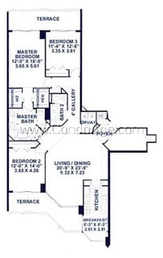 Floor plan image D - 3/2  - 1872 sqft image
