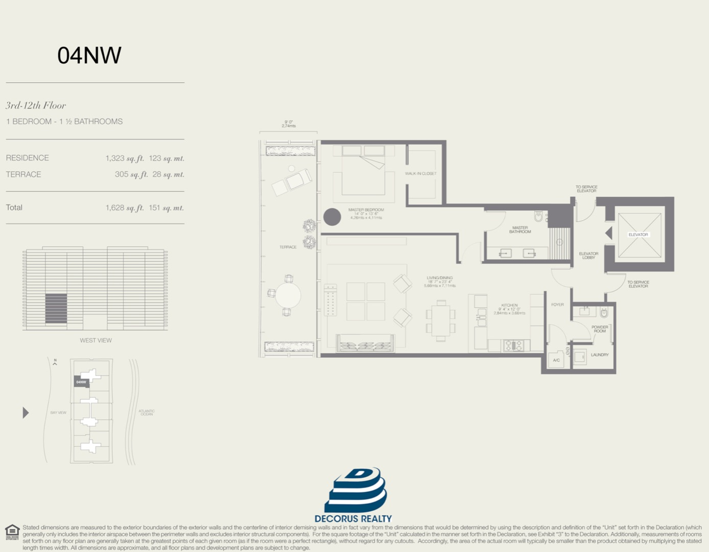 Floor plan image 04NW - 1/1.5  - 1323 sqft image