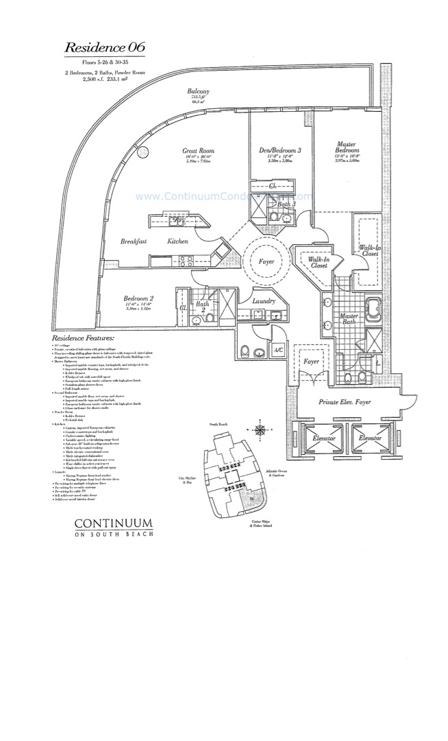 Floor plan image 06 - 3/3/1  - 2508 sqft image