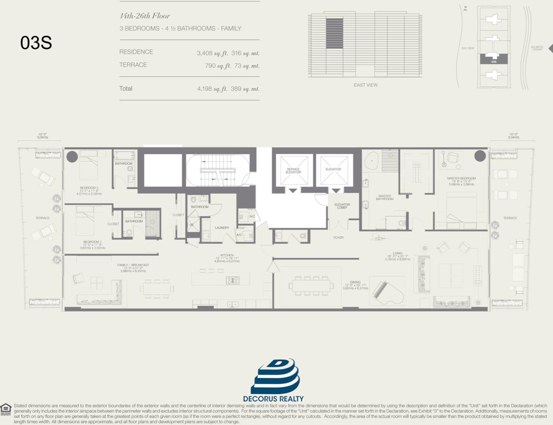 Floor plan image 03S - 3/4.5  - 3408 sqft image