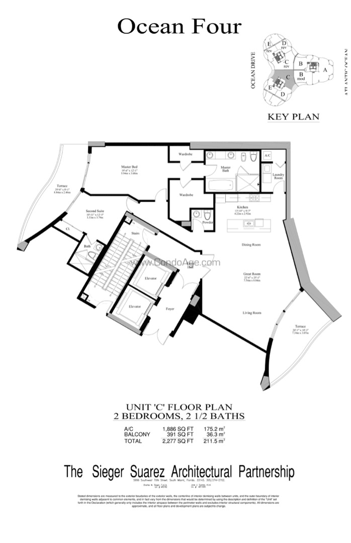 Floor plan image C - 2/2/1  - 1886 sqft image