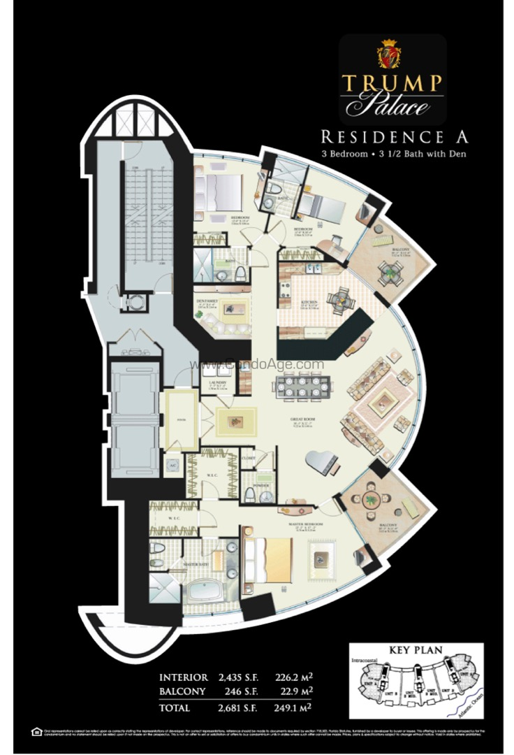 Floor plan image A - 3/3/1  - 2435 sqft image