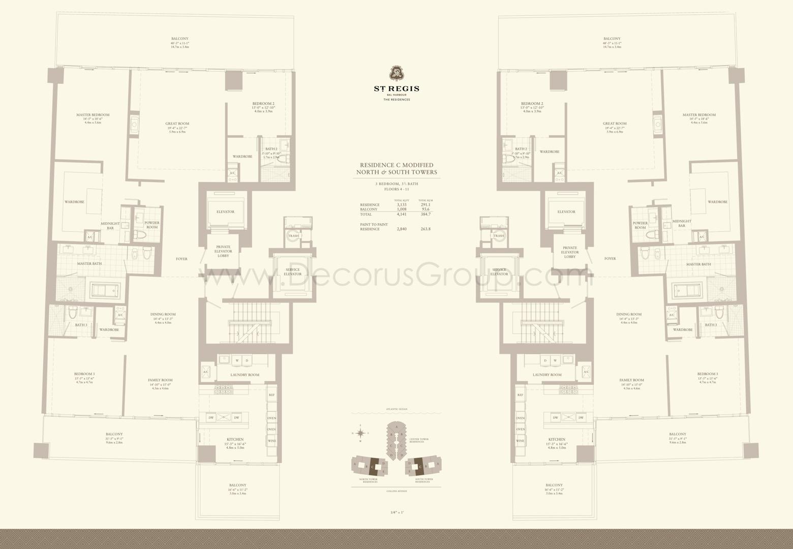 Floor plan image Cmod - 3/3.5  - 4141 sqft image