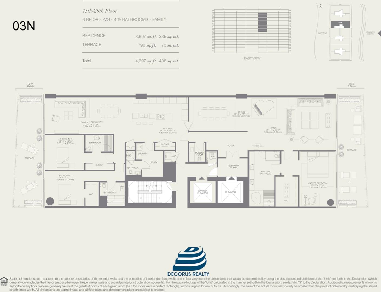Floor plan image 03N - 3/4.5  - 3607 sqft image