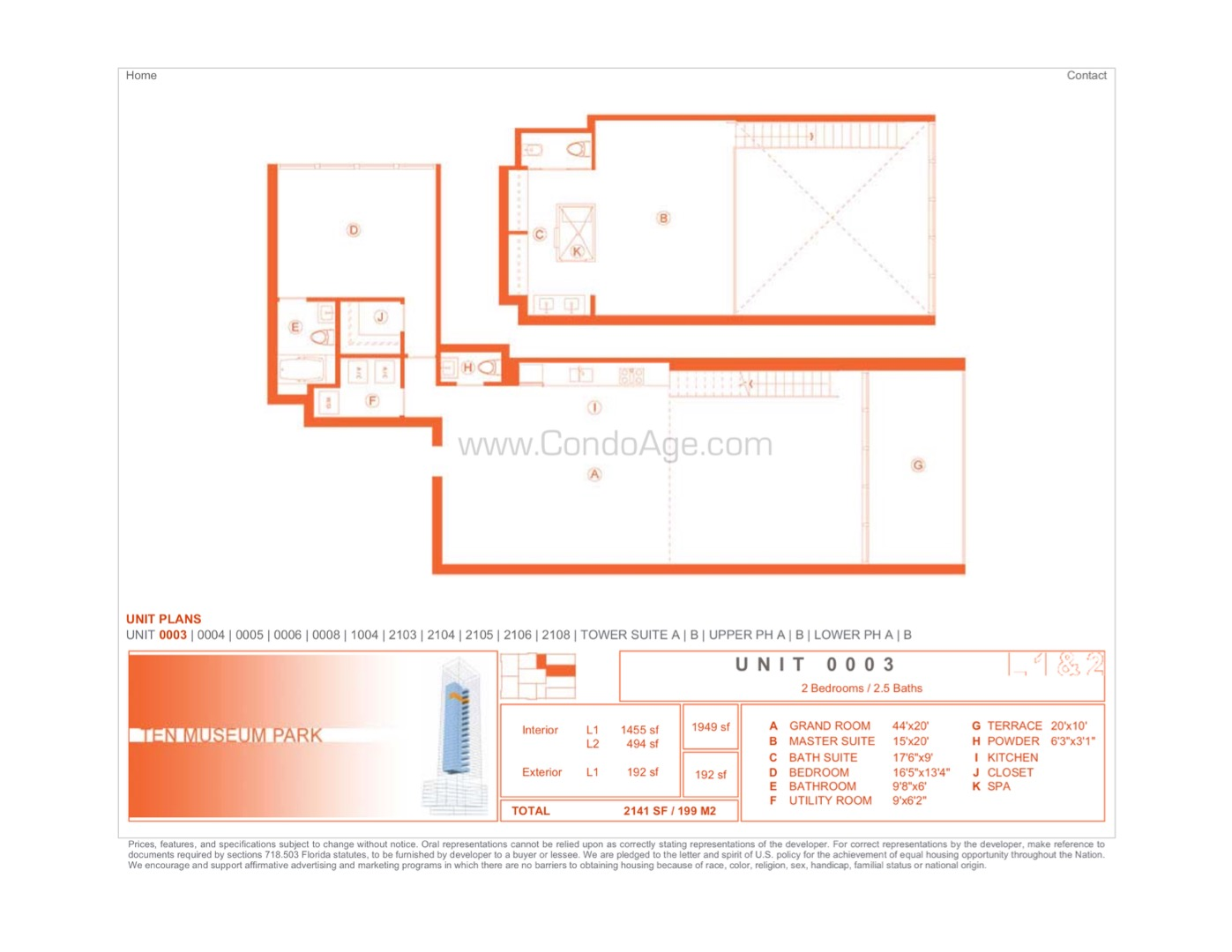 Floor plan image 03 - 2/2/1  - 1949 sqft image