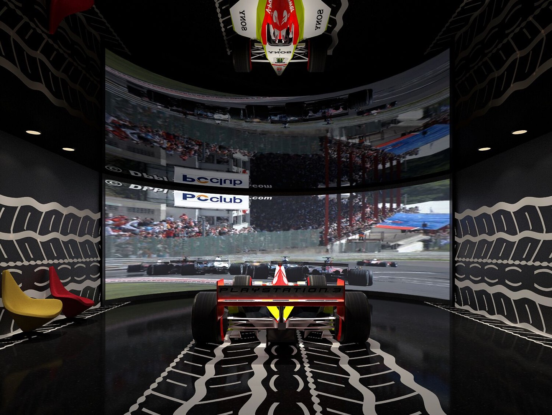 Formula One racing simulator image