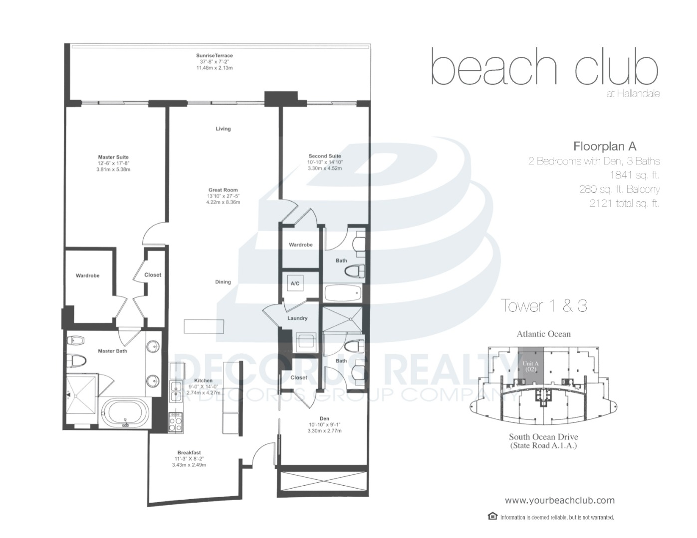 Floor plan image 02-03 - 2+Den/3  - 1841 sqft image