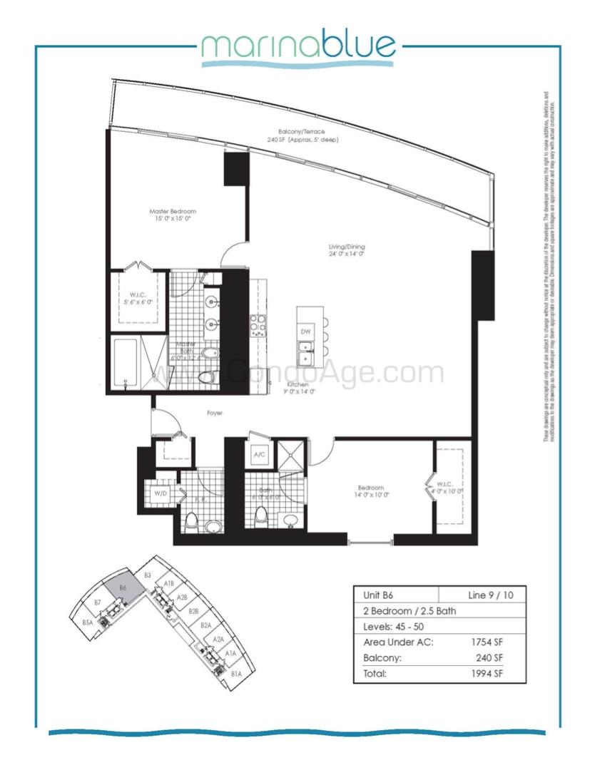Floor plan image B6 - 2/2/1  - 1754 sqft image