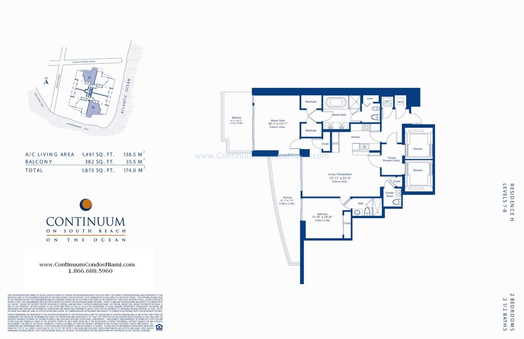Floor plan image H-2 - 2/2/1  - 1491 sqft image