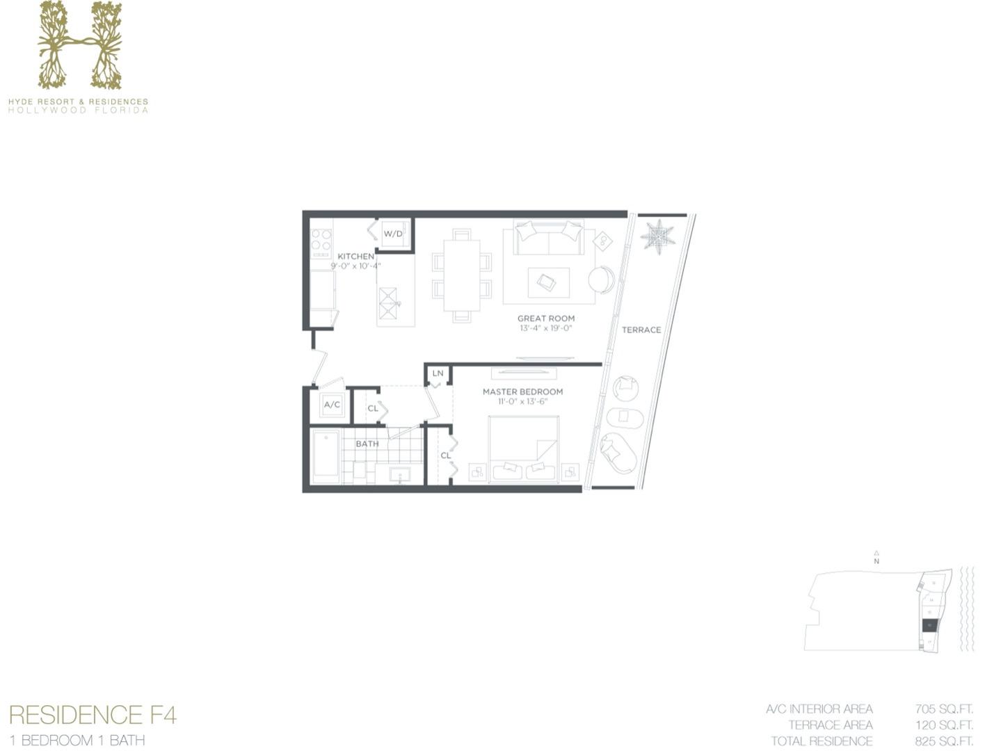 Floor plan image F5 - 1/1  - 730 sqft image
