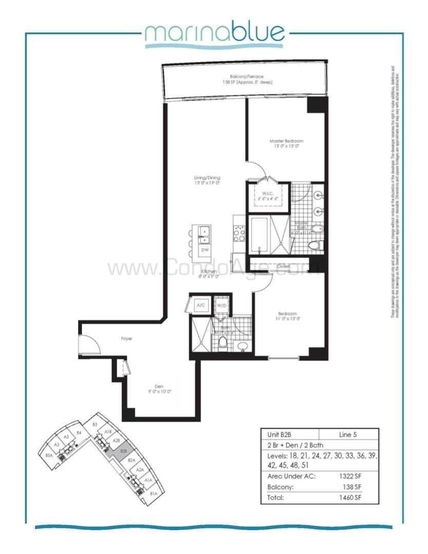 Floor plan image B2B - 2/2  - 1322 sqft image