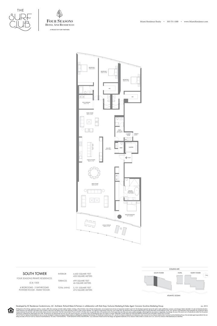 Floor plan image C4 - 4/5/POWDER ROOM/FAMILY ROOM  - 5101 sqft image
