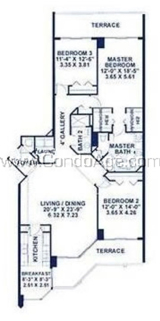 Floor plan image E - 3/2  - 1775 sqft image