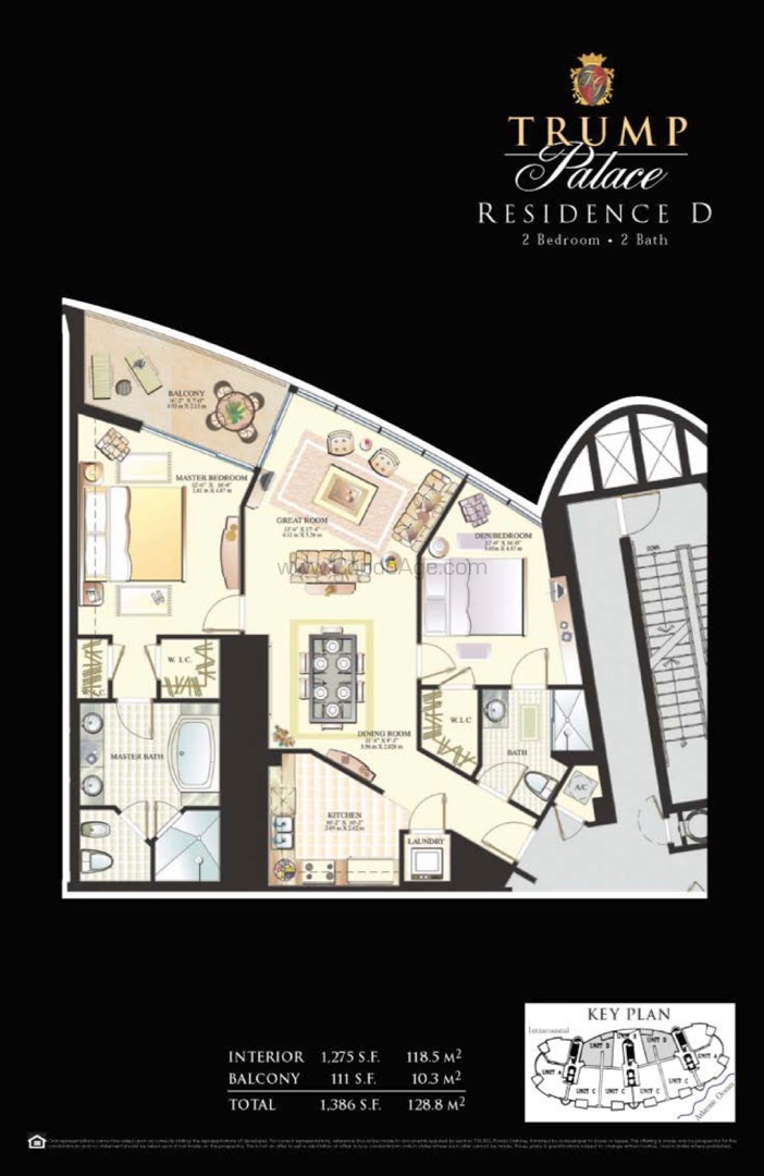 Floor plan image D - 2/2/1  - 1275 sqft image