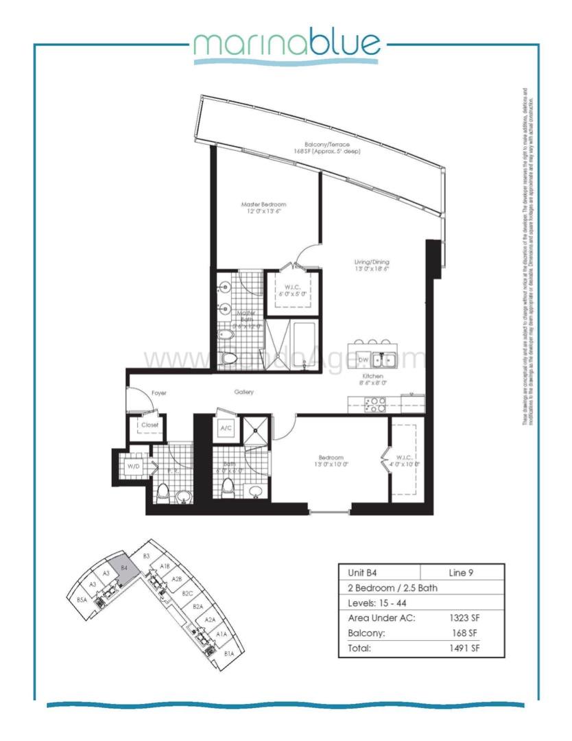 Floor plan image B4 - 2/2  - 1323 sqft image