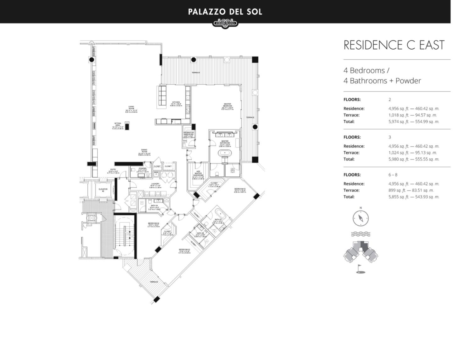 Floor plan image C East 3-7 - 3/3  - 4956 sqft image